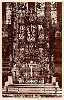 Postcard - Liverpool - Cathedral. The Reredos