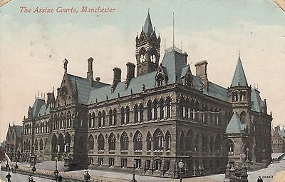 Postcard - Manchester - The Assize Courts