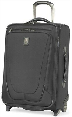 "Travelpro Luggage Crew 11 22"" Expandable Rollaboard Carry On Suitcase - Black"