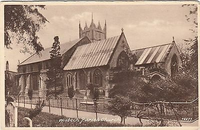 Postcard - Wisbech - Parish Church