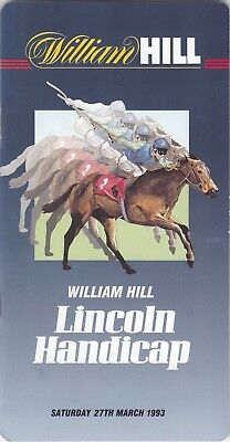Racecard - Doncaster 27th March 1993 Lincoln Handicap