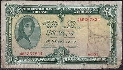 1 Pound from Ireland 6.1.54 Payable In london