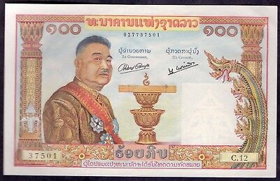 100 Kip From Laos French Colony Aunc