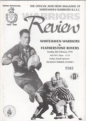 Whitehaven Warriors v Featherstone Rovers 1998 (8 Feb)