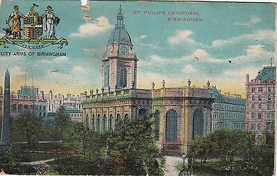Postcard - Birmingham - St. Philips Cathedral