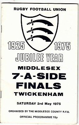 Middlesex Sevens Finals 1975 @ Twickenham