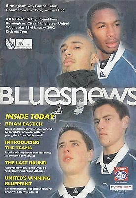 Birmingham City Youth v Manchester United Youth 2001/2 FA Youth Cup