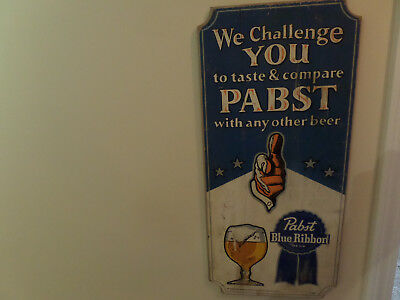 pabst blue ribbon wooden sign