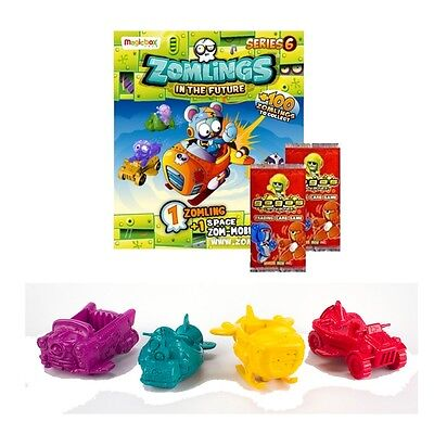 ZOMLINGS IN THE FUTURE SERIES 6 ZOM-MOBILE PACKS ZOMLING MOBILES + 2 GoGo Cards