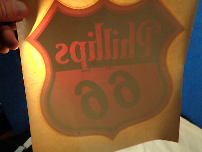 Vintage **phillips 66**  Advertising Decal Sign #5
