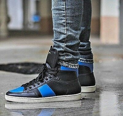 63326e4542e9 Saint Laurent YSL SL10H Court Classics High Top Sneakers   Basketball Shoes  New!