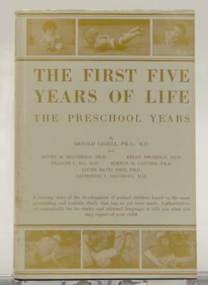 The First Five Years of Life Preschool Arnold Gesell 1940 HC DJ Parenting