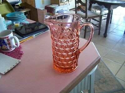 "Cube Cubist 8 3/4"" pink 45 oz pitcher-difficult find"