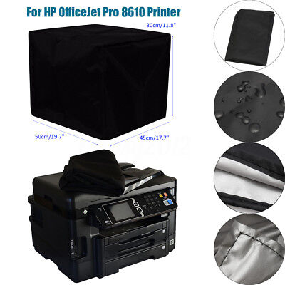 50x40x30cm Black Polyester Fiber Printer Dust Cover for HP OfficeJet Pro 8610
