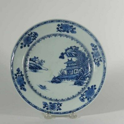 Chinese Qian Long Blue and White Dish, Christie's Nanking Cargo, Landscape #169