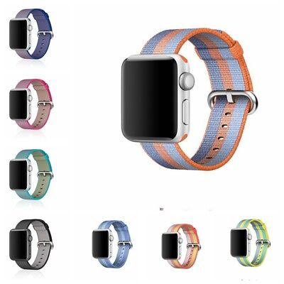 Sports Nylon Wrist Bracelet Strap For Apple Watch iWatch Band 38mm 42mm