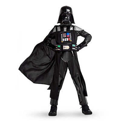 Disney Store Deluxe Star Wars Darth Vader Light Up Boys Costume Size 11/12 NWT