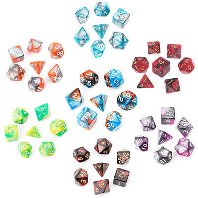 7pcs/Set Acrylic Polyhedral Dice For Dungeons And Dragons TRPG Board Game D4-D20