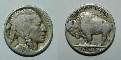 U.s.a. Buffalo Nickel 1927