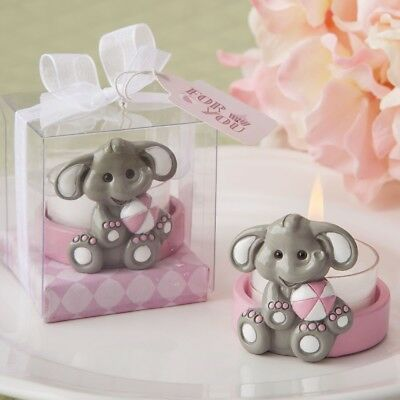 70 Cute Baby Girl Pink Elephant Tea Light Holders Perfect Shower Gift Favors