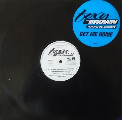 "FOXY BROWN - Get Me Home ~ 12"" Single PS PROMO"