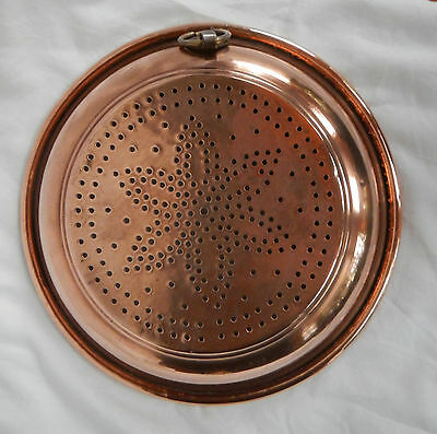 Large Antique French Copper Sieve / Colander / Strainer - pre 1900 (E)