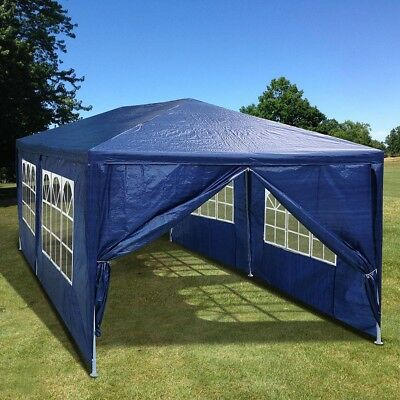 10'x20' Outdoor Party Tent Patio Canopy Wedding Pavilion Cater Event Blue