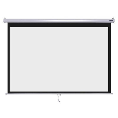 "Instahibit? 100"" 16:9 Movie Manual Projection Screen Pull Down Projector 87x49"