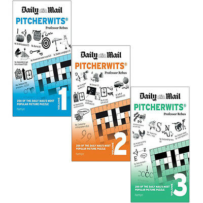 Daily Mail Pitcherwits Vol (1-3) 3 Books Collection Set Daily Mail Puzzle NEW UK