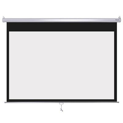 "Instahibit? 72"" 16:9 Home Movie Manual Projection Screen Pull Down Projector New"