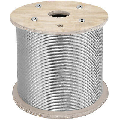 "Cable Railing 1000ft Stainless Steel Wire Rope 1/8"" Stainless Stranded Wire 1x19"