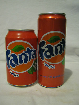 FANTA  exotic:  2 x 330 ml empty cans, diff.   types  new edition, israel 2013