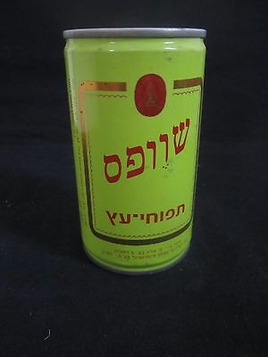 Schweppes  sparkling apple  : a 330 ml  empty  steel can, israel, early 80's