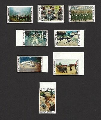 Burma Myanmar Wa State Independent country (unrecognized) rebel local stamps