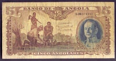 5 Angolares from Angola Portuguese Colony 1947