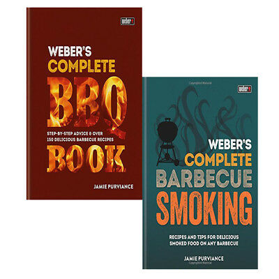 BBQ Book, BBQ Smoking 2 Books Collection Set Weber's Complete NEW BRAND UK