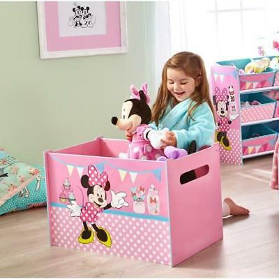 MINNIE Grand Coffre a Jouets en bois Rose - Worlds Apart