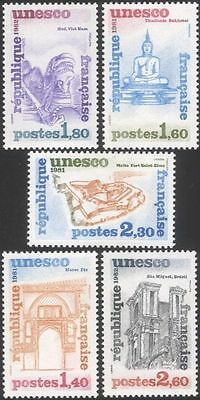 France (UNESCO) 1981 Buddha/Cathedral/Buildings/Architecture/Heritage 5v n44842