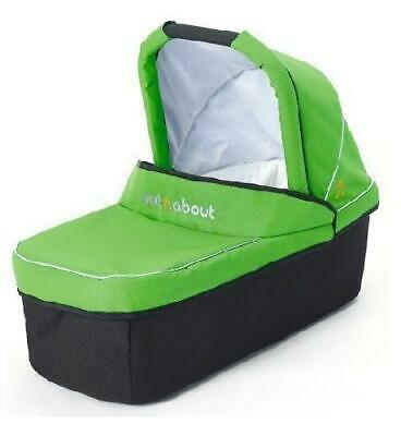Out n About Nipper Carrycot (Mojito Green) with Mattress
