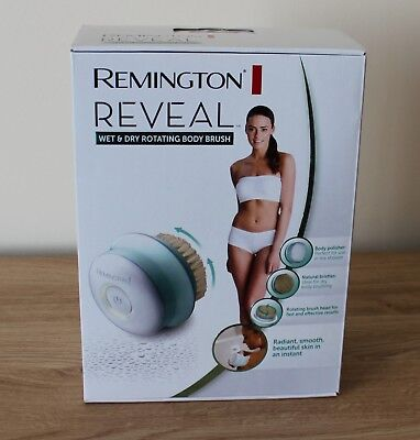 Remington Reveal Exfoliating Wet & Dry Cordless Rechargeable Body Brush