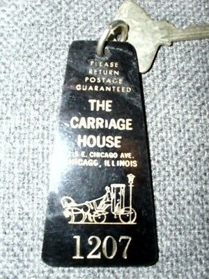Vintage Hotel Key The Carriage House Rm 1207 Chicago