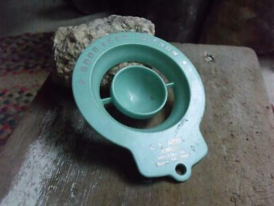 Vintage 1950s Advertising Egg Separator L F Abell Jeweler Hinckley IL Turquoise