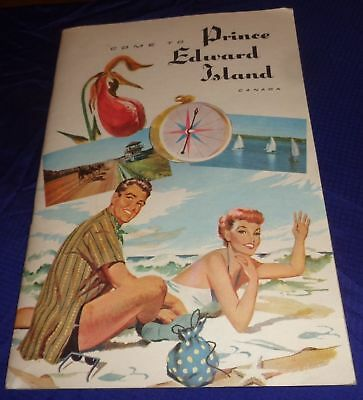BR1636 Vtg 1958 PEI Prince Edward Island 34 Page Tourist Travel Booklet Guide