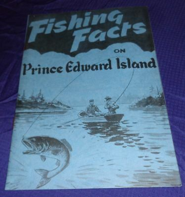 BR1635 Vtg PEI Prince Edward Island Fishing Facts Travel Guide Brochure Ad