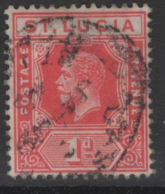 ST.LUCIA SG79 1912 1d CARMINE-RED USED