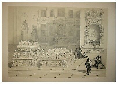 Granada Kathedrale Andalusien Spanien Lithografie 1837
