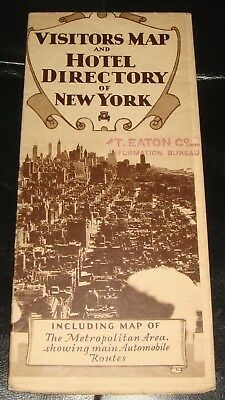 BR1103 Vtg 1957 Yellowstone National Park Tour Guide Brochure