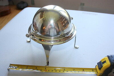 Epns Sugar Bowl Unusual Domed Cover Dish Vintage Fine Dining Antique Railway