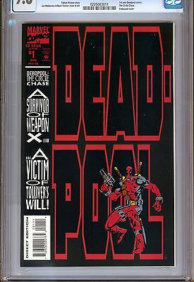 1)CGC 9.8-DEADPOOL: THE CIRCLE CHASE #1(8/93)'1st SOLO SERIES'(X-MEN)MADUREIRA!!