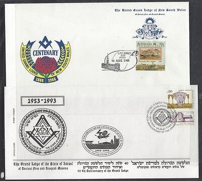 Famous Masons & Masonary collection in albums 330+ covers 7Kg